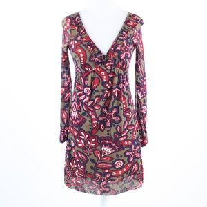 Brown red floral INTERNATIONAL CONCEPTS dress P